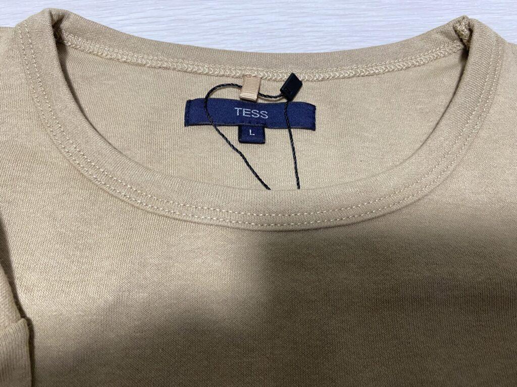 メンズファッションプラスでマネキン買いしたロングTシャツをアップで撮影した写真