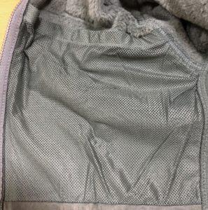ECWCSlevel3フリースの内ポケットの写真