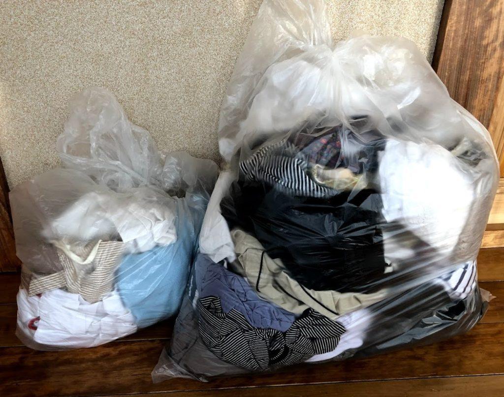 キングファミリーに持ち込んだ13700グラムの服の写真例