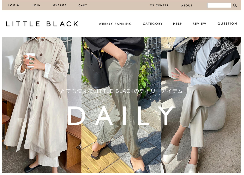 大人女性におすすめな韓国レディースファッション通販サイトlittleblack公式サイトのキャプチャ画像