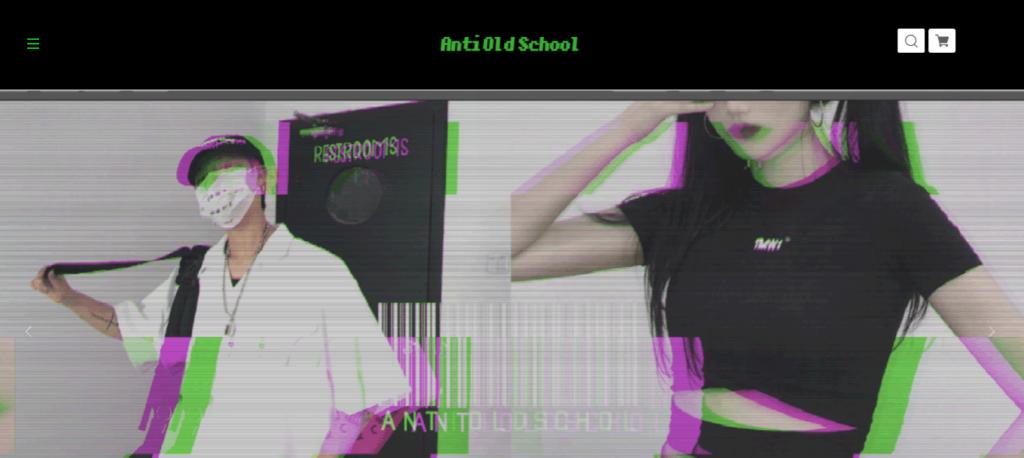 AntiOldSchoolのサイトの画像